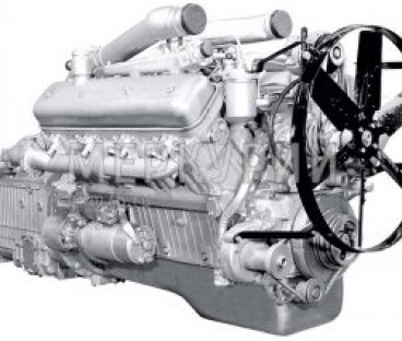 Фото: Двигатель 238М2Э без коробки передач со сцеплением 56 комплектации